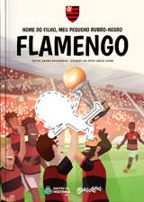 Livro personalizado do Meu Pequeno Rubro-Negro Flamengo