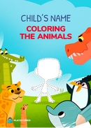 Coloring the animals personalized book cover