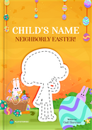 Neighborly Easter personalized book cover