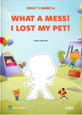 The what-mess personalized book cover