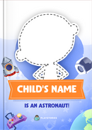An Amazing Astronaut personalized book cover