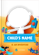 An Amazing Inventor personalized book cover