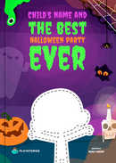 The Best Halloween Party Ever personalized book cover
