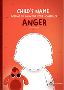 A copy of the personalized book from Getting to Know the Little Monster of Anger