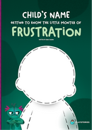 Personalized book cover Frustrated Monster