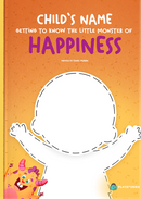 Capa do livro personalizado do Getting to Know the Little Monster of Happiness