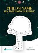 Holiday Snow Surprise personalized book cover