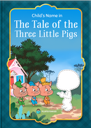 The Tale of the Three Little Pigs personalized book cover